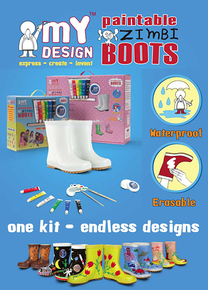 Paintable Boots & Wellies Kit